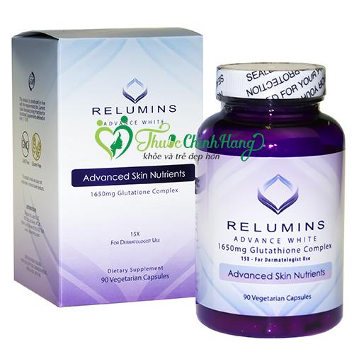 thuốc trắng da relumins mẫu mới